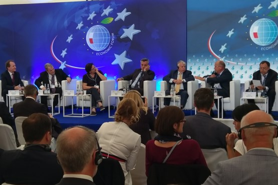 Deputy Speaker of the House of Peoples Ognjen Tadić participates in the 28th Economic Forum