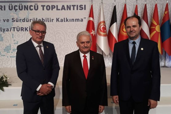 Speakers of the House of Peoples Safet Softić and the House of Representatives Mladen Bosić participate in the 3rd Meeting of Speakers of Eurasian Countries' Parliaments in Antalya