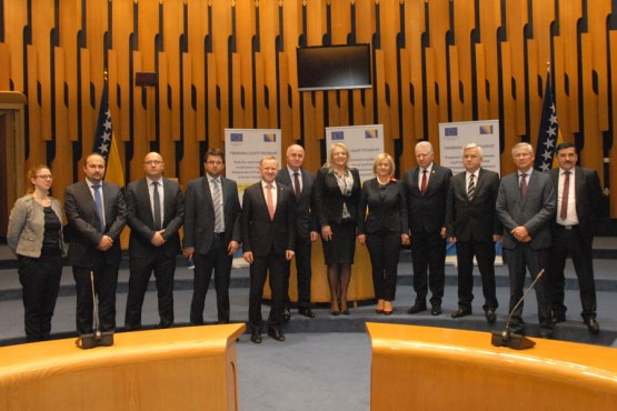 Ceremony on the occasion of the completion of the Twinning light project - Support to administrative structures for EU integration affairs in Bosnia and Herzegovina held in the Parliamentary Assembly of BiH