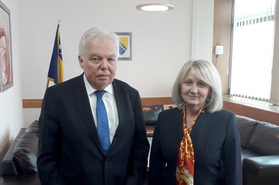 Speaker of the House of Representatives Borjana Krišto met with the Ambassador of the Russian Federation to BiH
