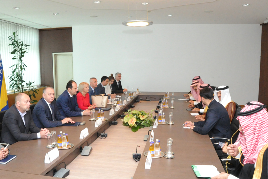 Members of the Collegium of both Houses spoke with the Prince of the Kingdom of Saudi Arabia