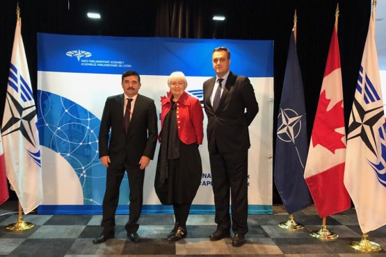 Members of the PABiH Delegation in NATO PA Nikola Lovrinović and Asim Sarajlić met with the President of the NATO PA