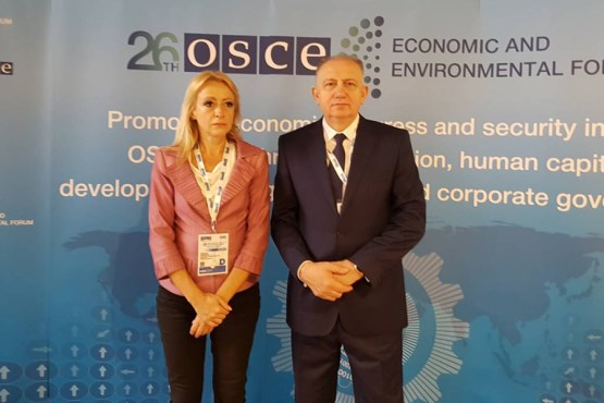 Members of PABiH Delegation to OSCE PA Aleksandra Pandurević and Bariša Čolak participate at the 26th OSCE Economic and Environmental Forum in Venice